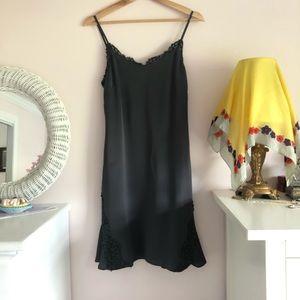 Banana Republic Gray Silk Slip Dress
